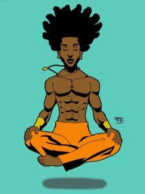 yoga floating guy